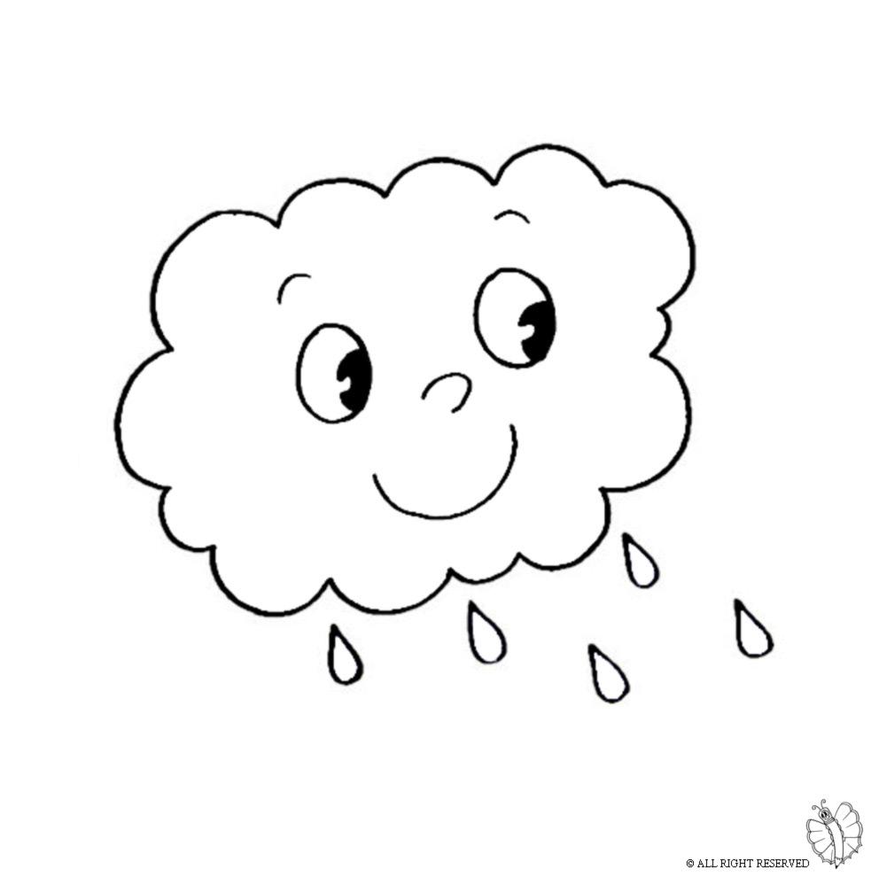 Disegno Di Nuvole Da Colorare Per Bambini Disegnidacolorareonlinecom