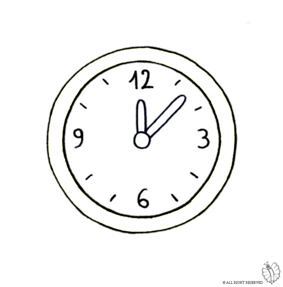 Orologio a pendolo da colorare - Disegni per parete ...