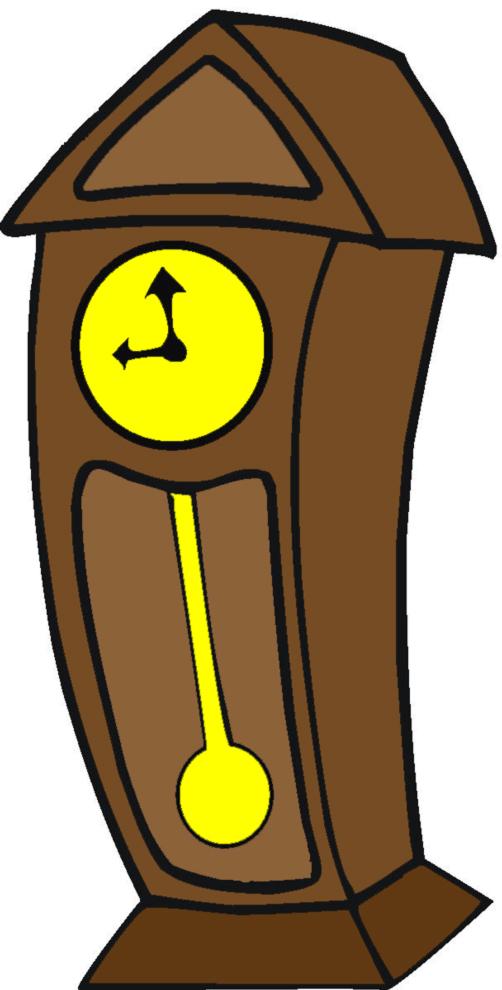 disegno orologio a pendolo
