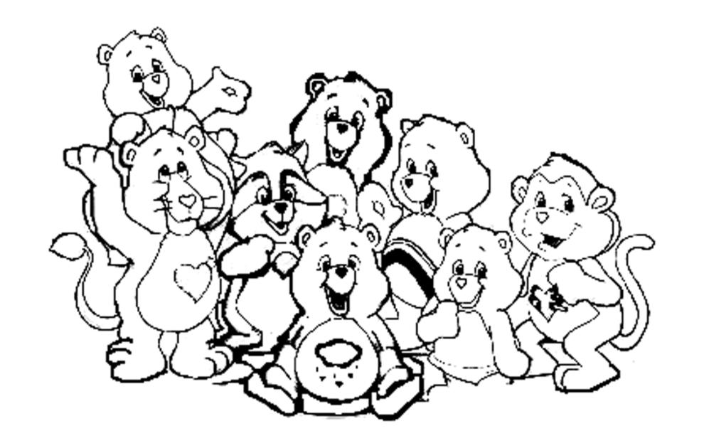 Estremamente Disegno di Gli Orsetti del Cuore da colorare per bambini  SE88