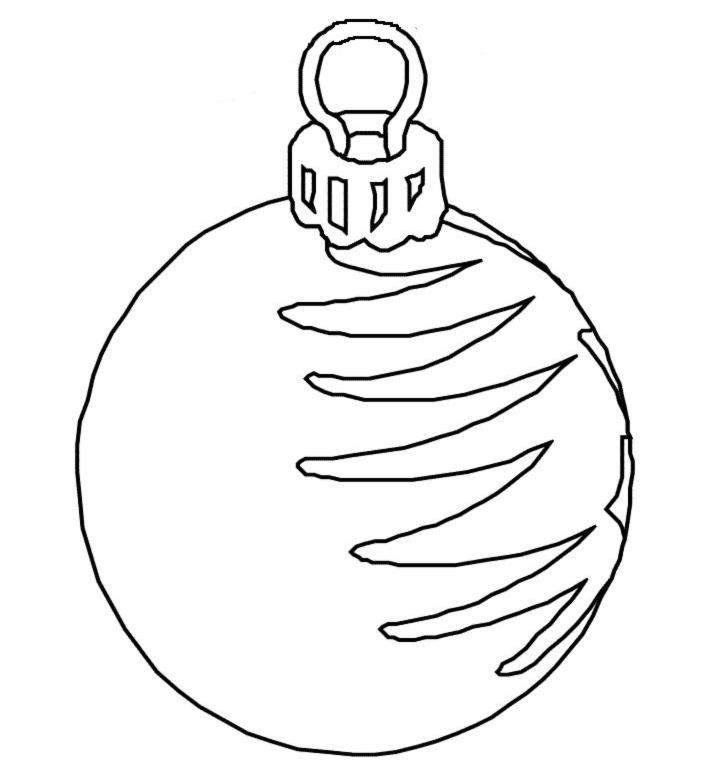 Favoloso Disegno di Palla di Natale da colorare per bambini  WE25