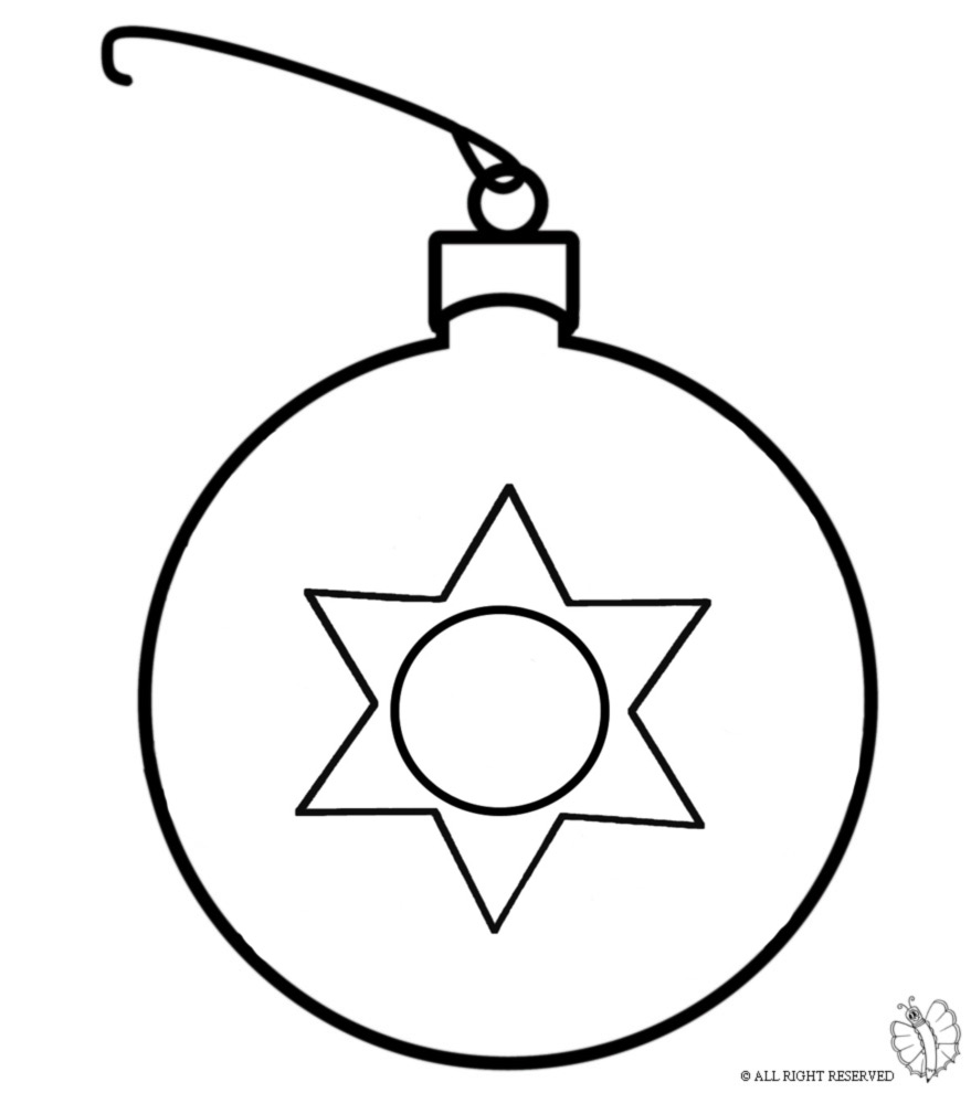 Disegni Di Palline Di Natale Da Stampare E Colorare.Disegno Di Pallina Di Natale Da Colorare Per Bambini Disegnidacolorareonline Com