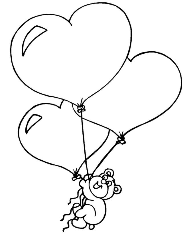 spesso Disegno di Cuori Palloncini da colorare per bambini  EQ48
