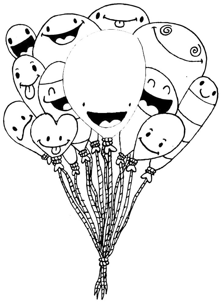 Disegno Di Palloncini Divertenti Da Colorare Per Bambini