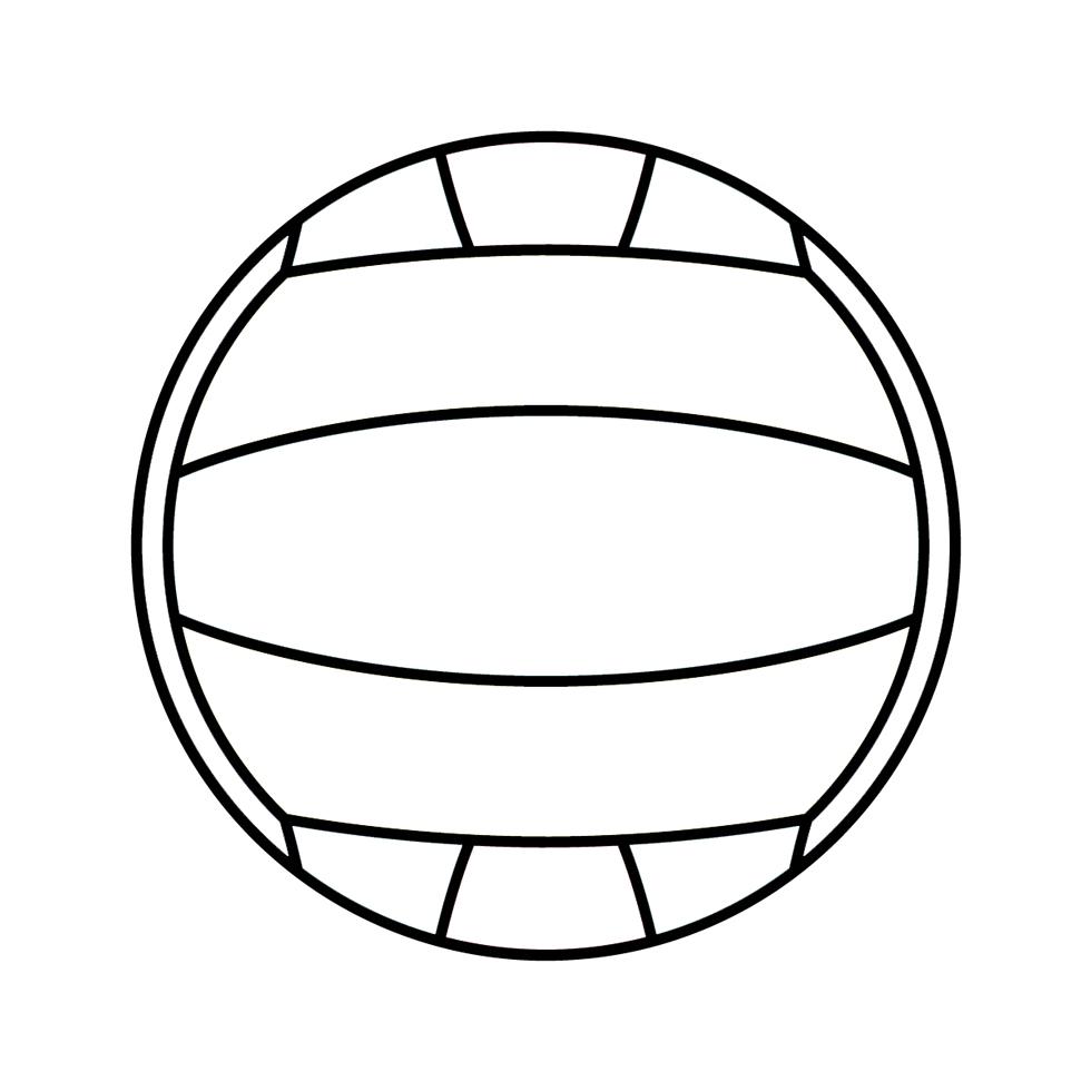 Disegno Di Pallone Da Pallavolo Da Colorare Per Bambini Disegnidacolorareonline Com