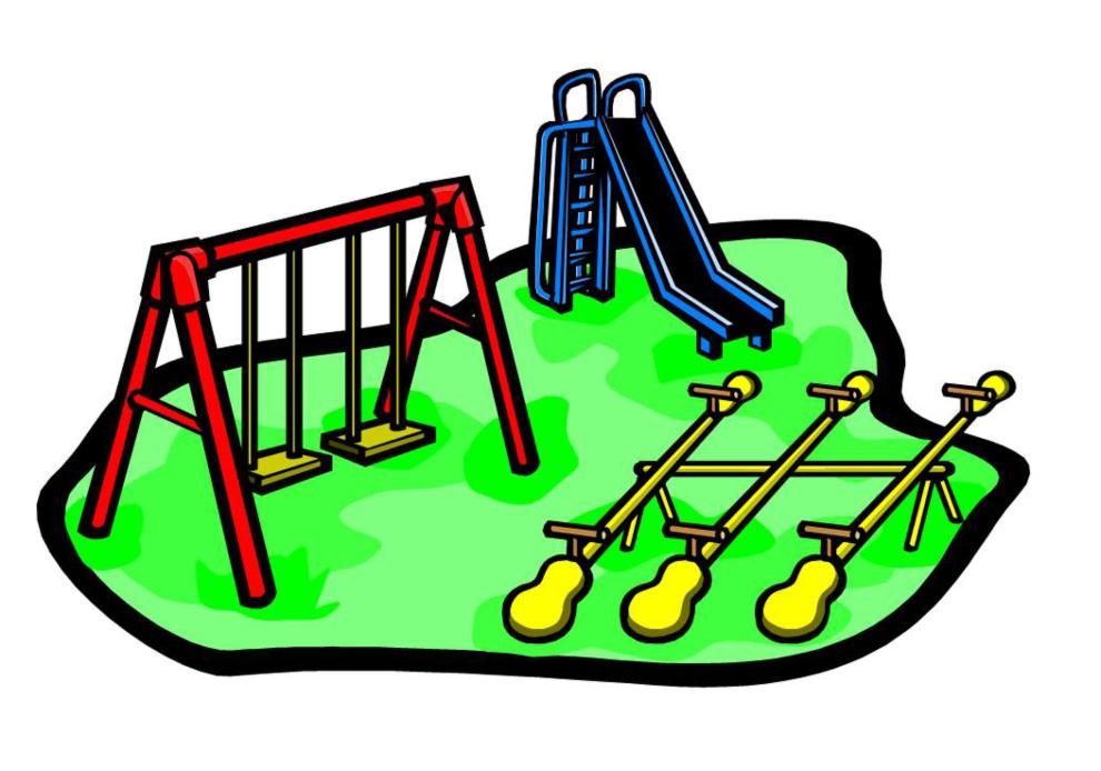 Disegno Di Parco Giochi A Colori Per Bambini