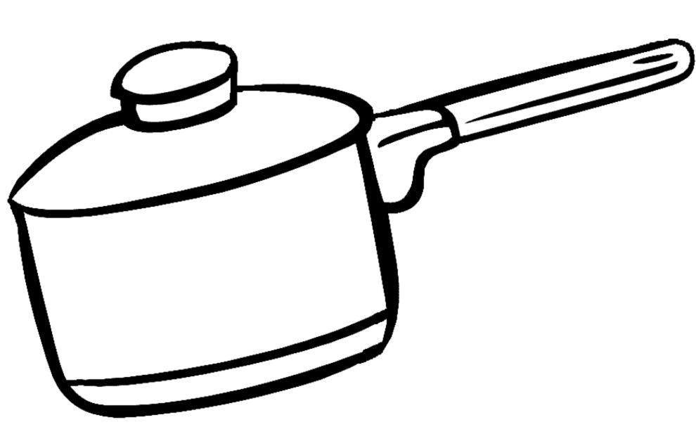 Disegno di Pentola per Cucinare da colorare per bambini ...