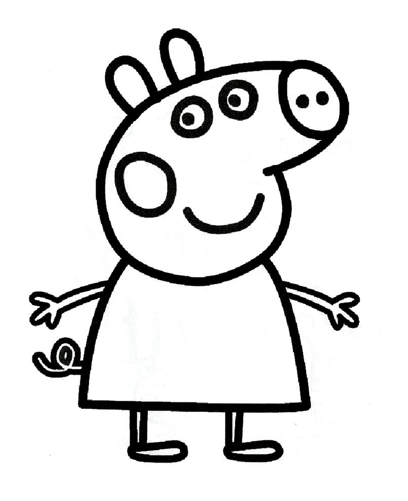 Disegno Di Peppa Pig Da Colorare Per Bambini
