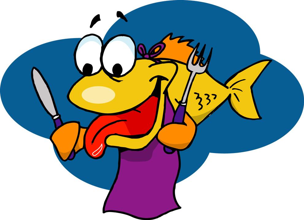 Disegno Di Pesce Affamato A Colori Per Bambini