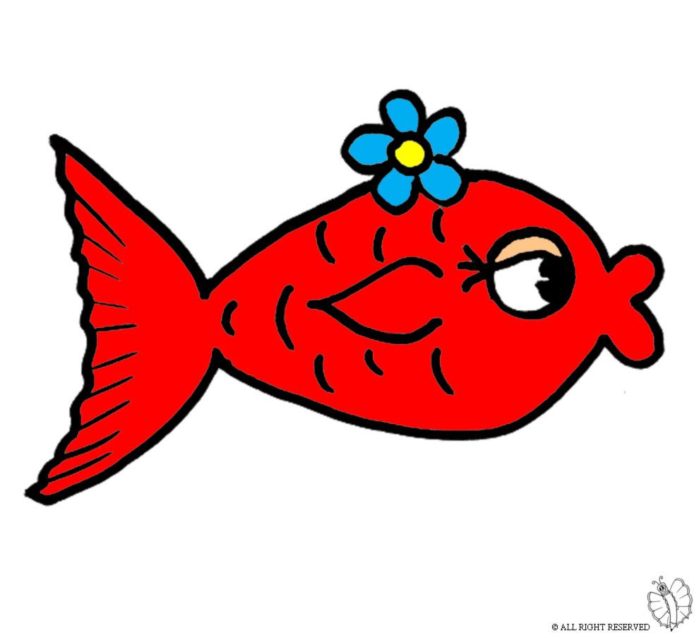 Disegno Di Pesci Innamorati A Colori Per Bambini
