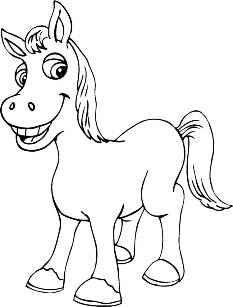 spesso Disegno di Piccolo Cavallo da colorare per bambini  VY84