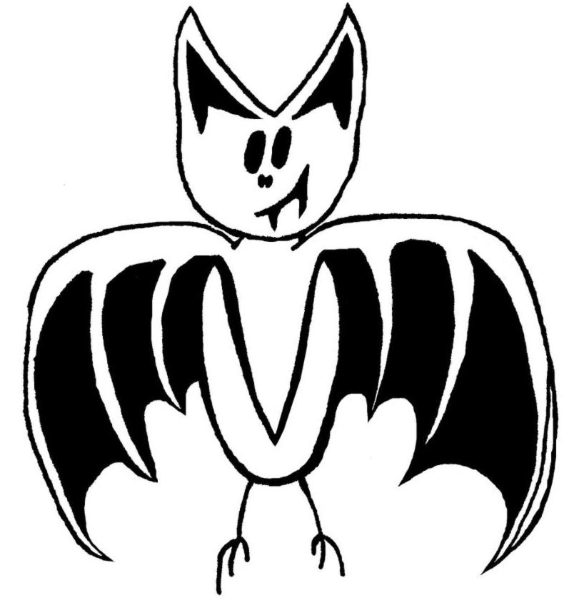 Disegno Di Pipistrello Da Colorare Per Bambini