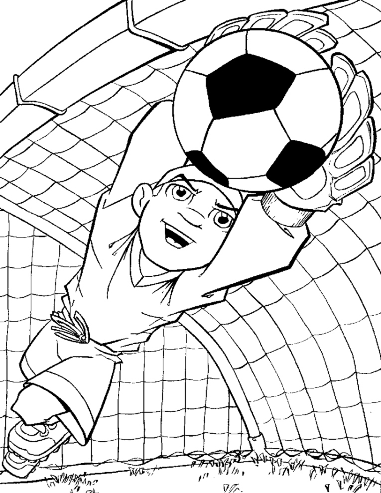 Disegno Di Portiere Di Calcio Da Colorare Per Bambini