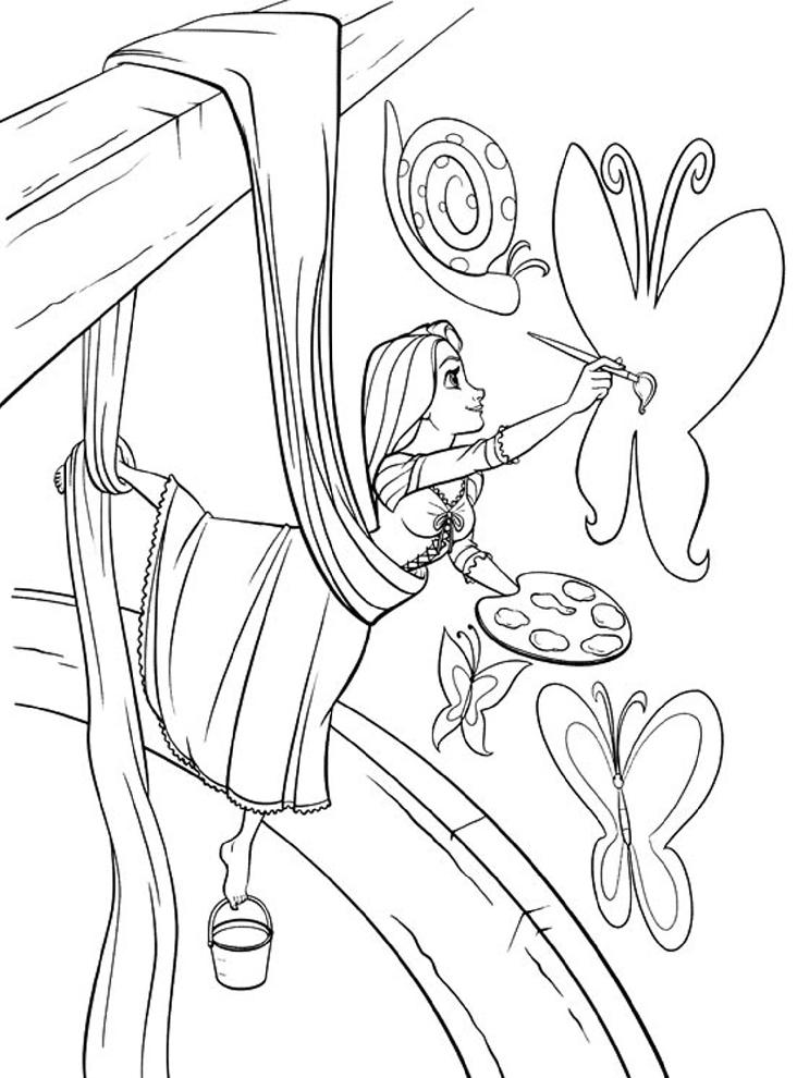 Disegni da colorare e stampare di rapunzel