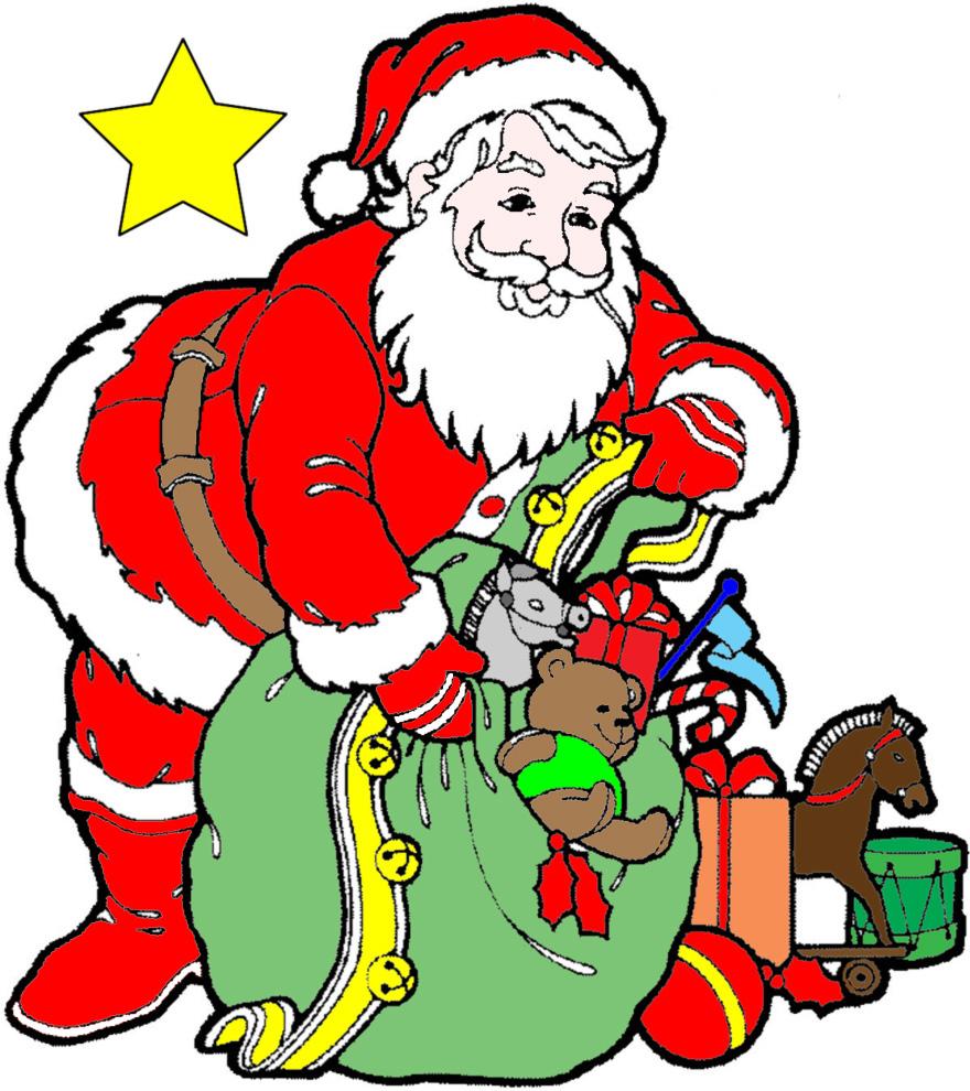 Immagini Colorate Di Babbo Natale.Disegno Di Regali Di Babbo Natale A Colori Per Bambini Disegnidacolorareonline Com