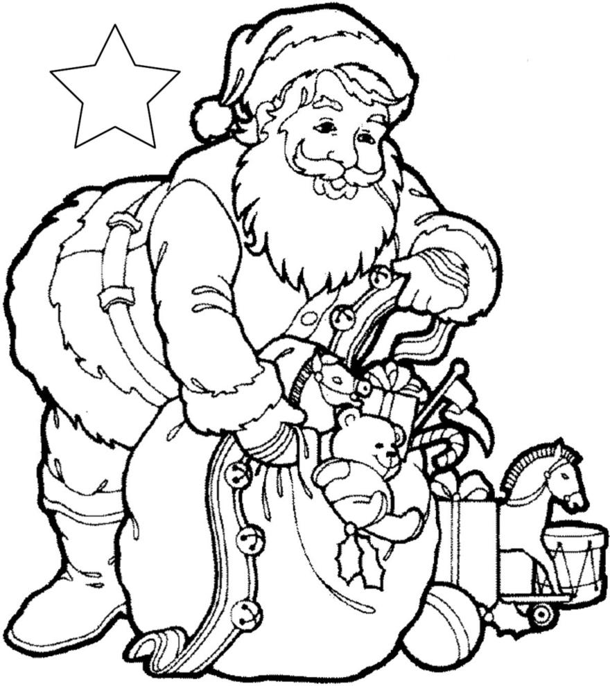 Eccezionale Disegno di Regali di Babbo Natale da colorare per bambini  DA05