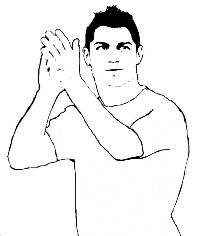 Disegno Di Ronaldo Da Colorare Per Bambini Disegnidacolorareonline Com