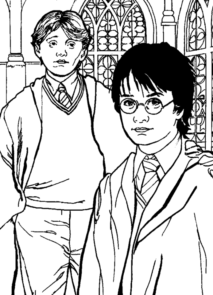 disegni da colorare su harry potter