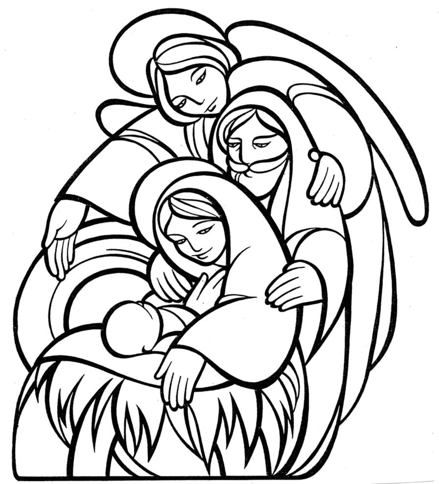 Preferenza Disegno di La Sacra Famiglia da colorare per bambini  ML53