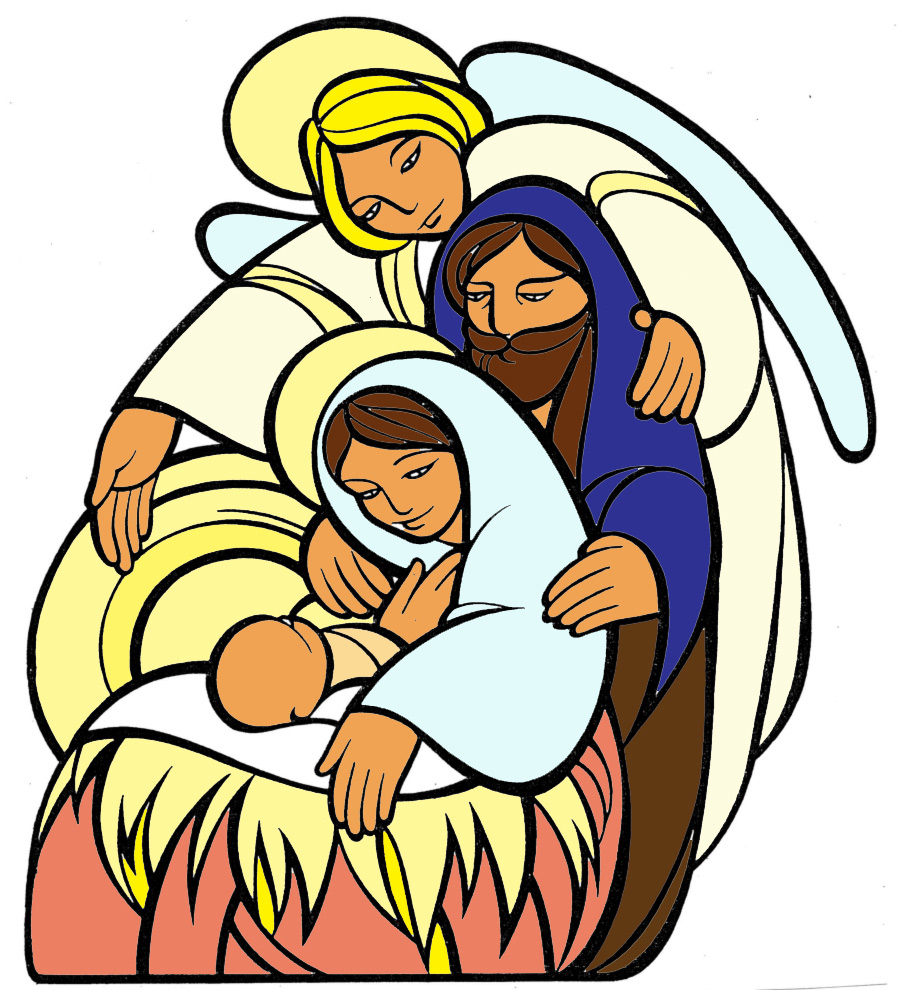 Amato Disegno di La Sacra Famiglia a colori per bambini  LP99
