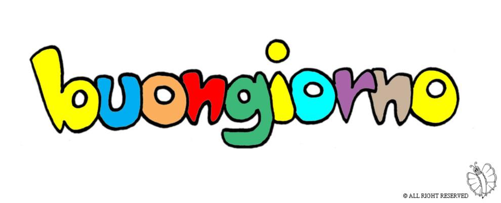 Favorito Disegno di Buongiorno a colori per bambini  EZ16