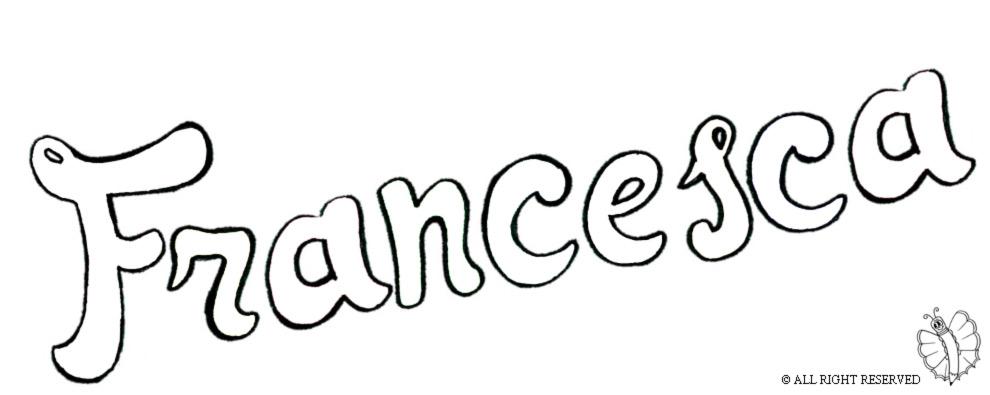Molto Disegno di Francesca da colorare per bambini  OL75