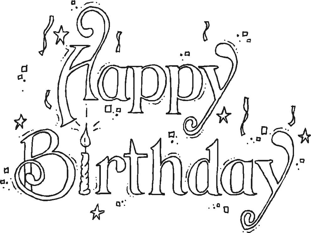Ben noto Disegno di Happy Birthday da colorare per bambini  JY51