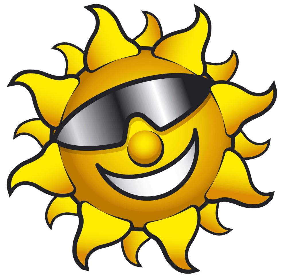 disegno di sole con occhiali a colori per bambini ... - Disegno Stella Colorate