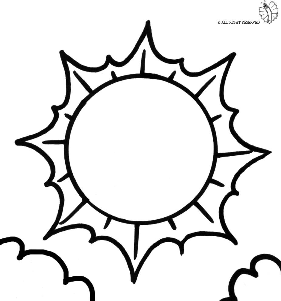 Preferenza Disegno di Sole e Nuvole da colorare per bambini  WF96