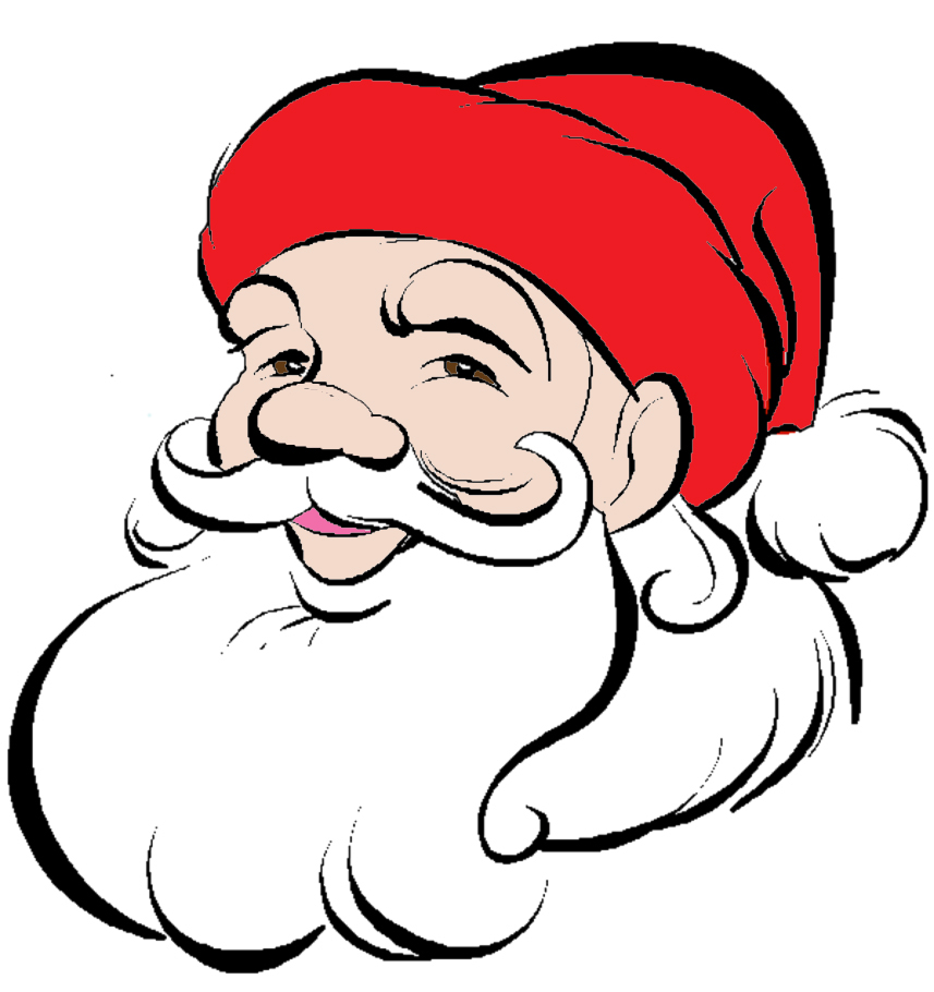 Foto Di Babbo Natale Per Bambini.Disegno Di Viso Di Babbo Natale A Colori Per Bambini