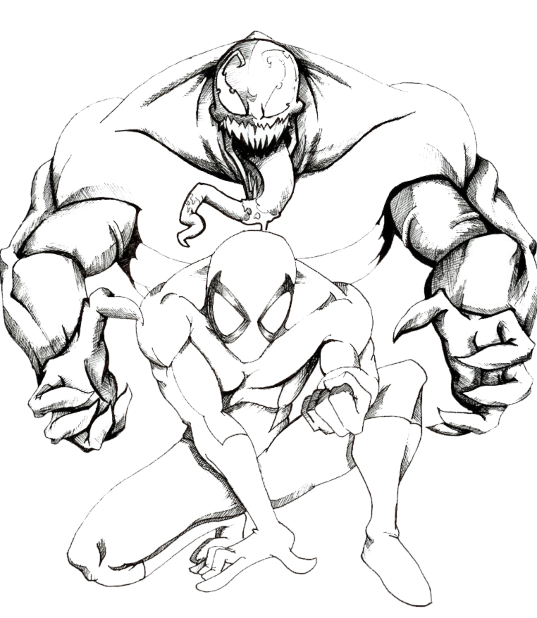 Disegni da colorare spiderman e venom timazighin for Spiderman da colorare e stampare