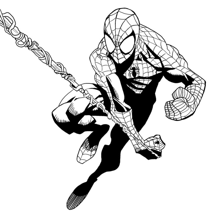 Disegno Di Spiderman L Uomo Ragno Da Colorare Per Bambini