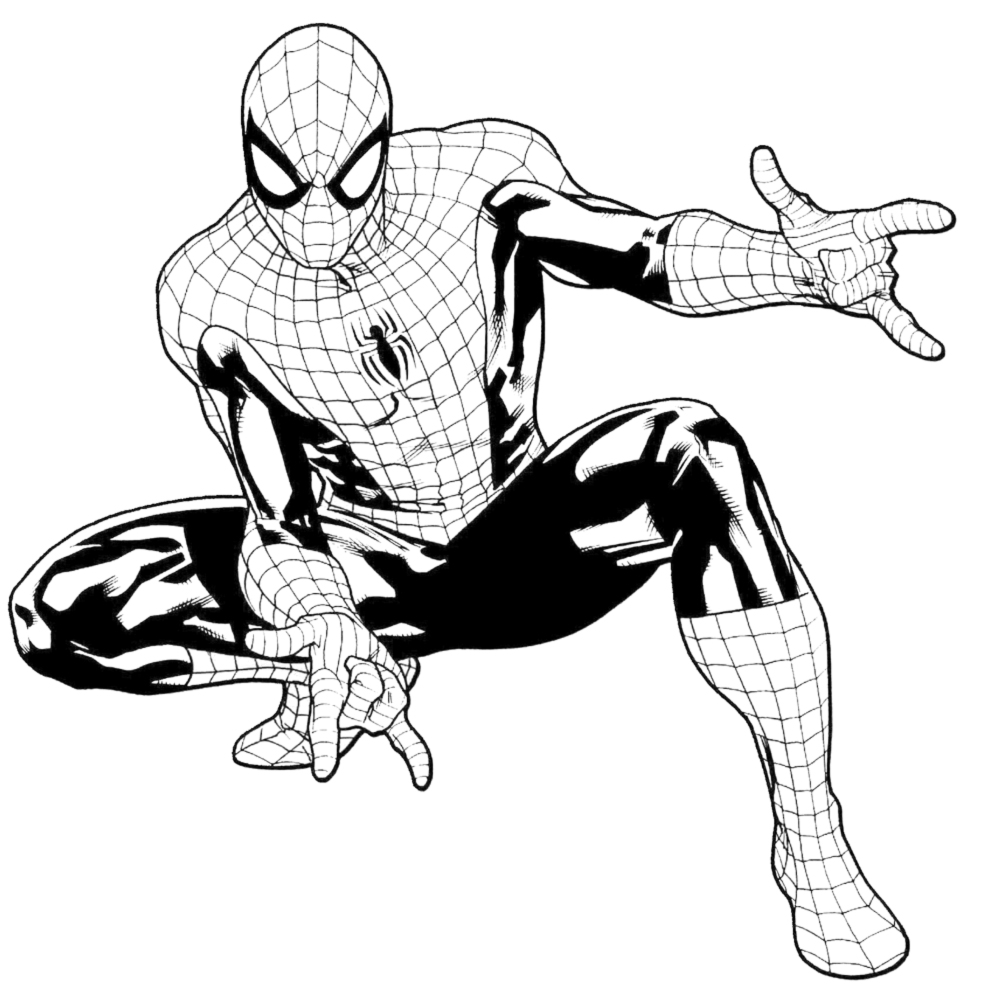 disegni da colorare sul computer spiderman