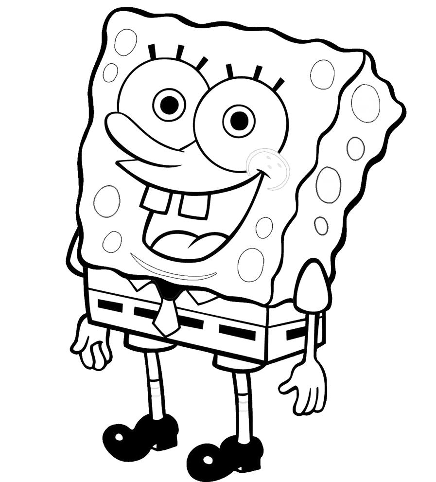 Disegno Di Spongebob Da Colorare Per Bambini