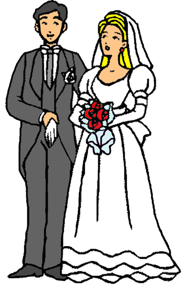 Bien-aimé Disegno di Sposi con Bouquet a colori per bambini  YS92