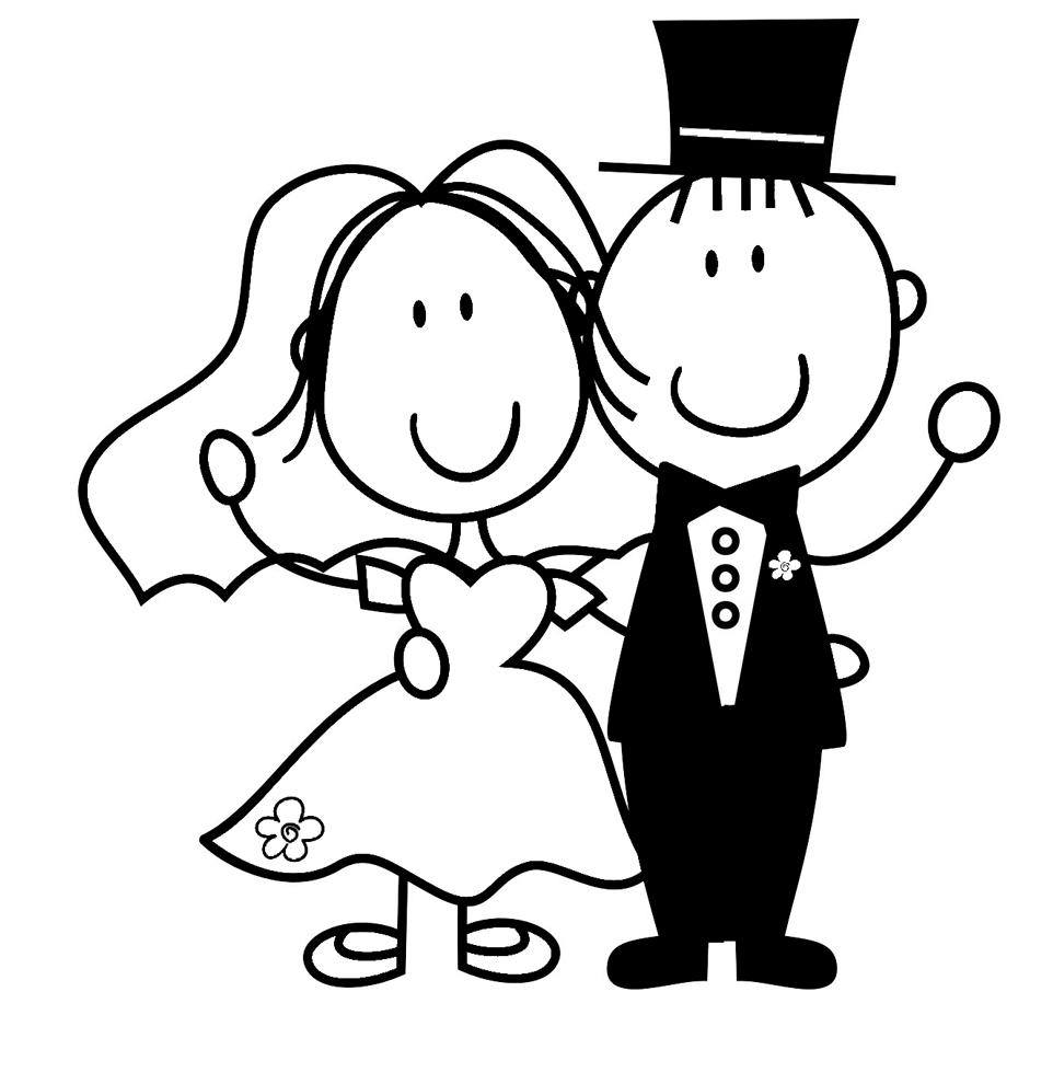 Souvent Disegno di Sposi da colorare per bambini - disegnidacolorareonline.com WD15