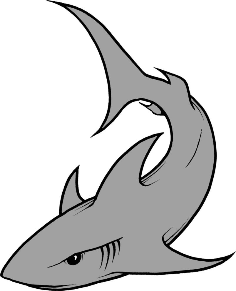 10 pesce morto disegno a colori for Squalo da colorare per bambini