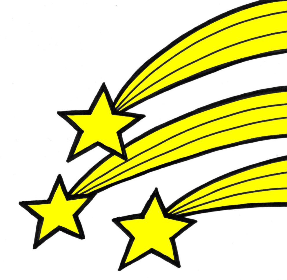 disegno di stelle cadenti a colori per bambini ... - Disegno Stella Colorate