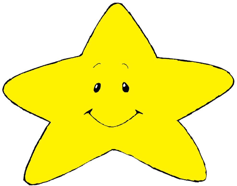 disegno di stellina con sorriso a colori per bambini ... - Disegno Stella Colorate