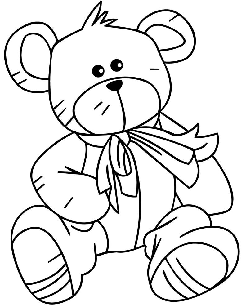 Disegno Di Teddy Bear Da Colorare Per Bambini Disegnidacolorareonline Com