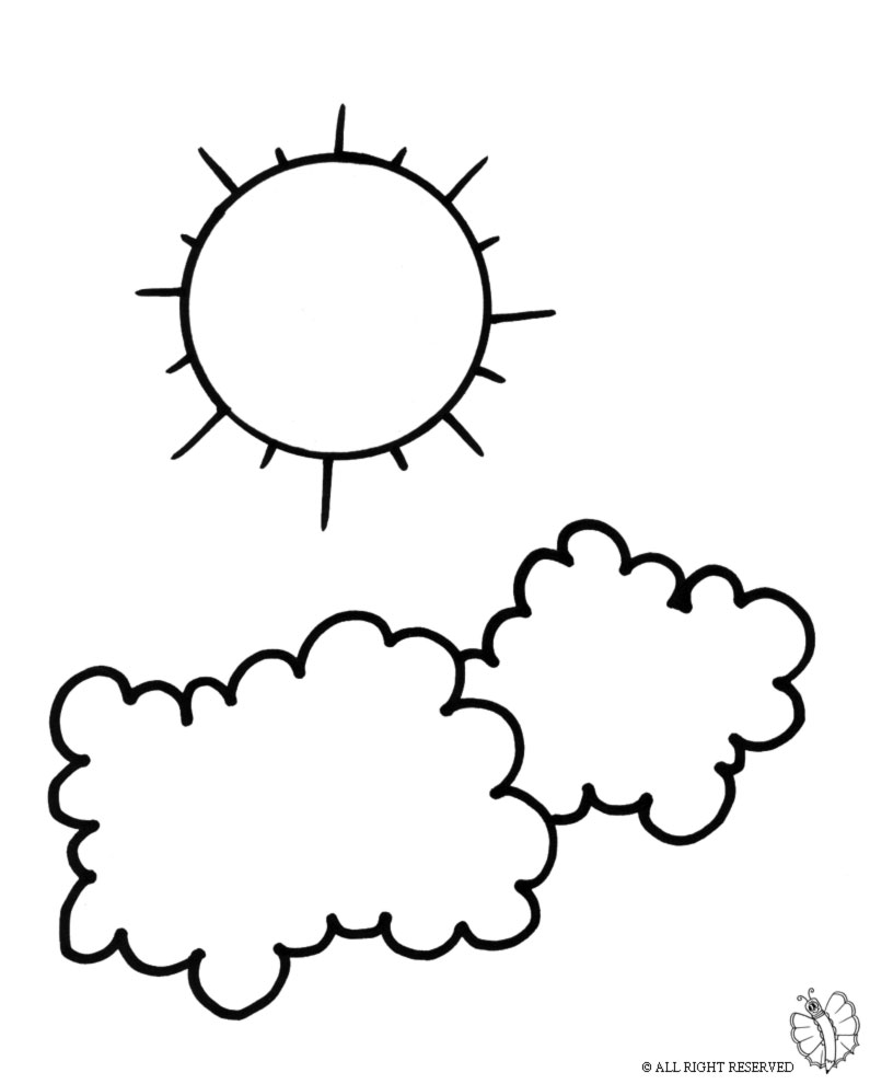 Disegni da colorare e stampare nuvole timazighin for Comodini per bambini online