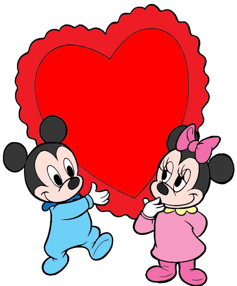 Assez Disegno di Topolino e Minnie Baby Cuore a colori per bambini  HK74