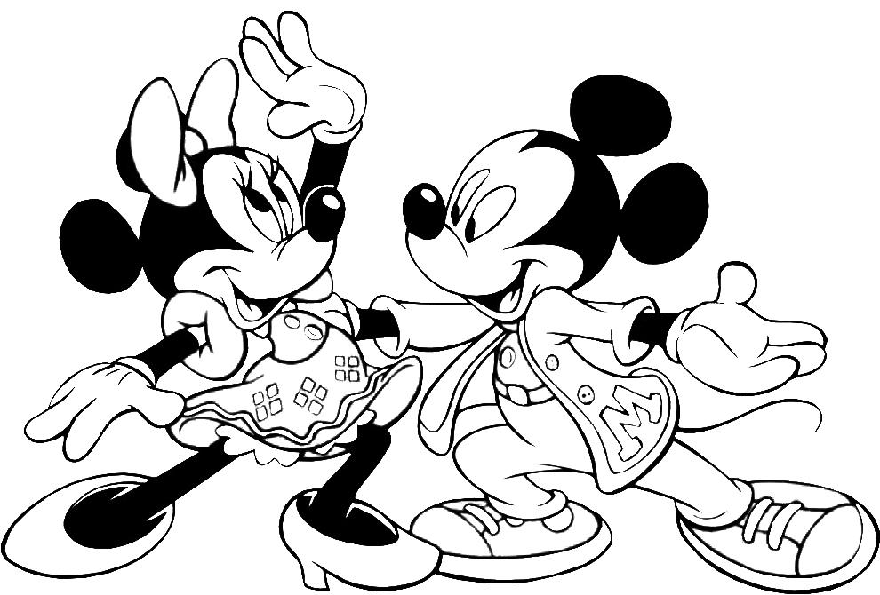 Disegno Di Minnie Allegra A Colori Per Bambini