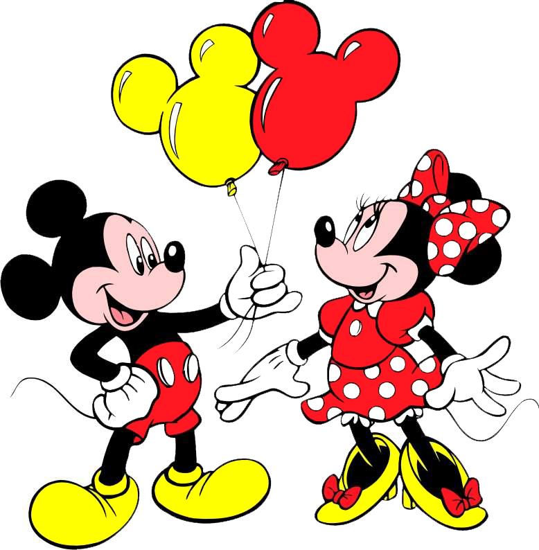 Top Disegno di Topolino e Minnie a colori per bambini  RK94