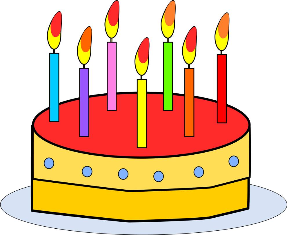 Super Disegno di Torta di Compleanno da colorare per bambini  WD64