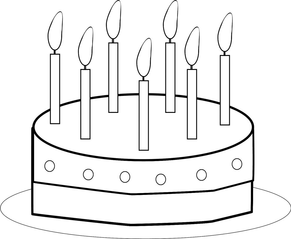 Top Disegno di Torta Buon Compleanno da colorare per bambini  MU58