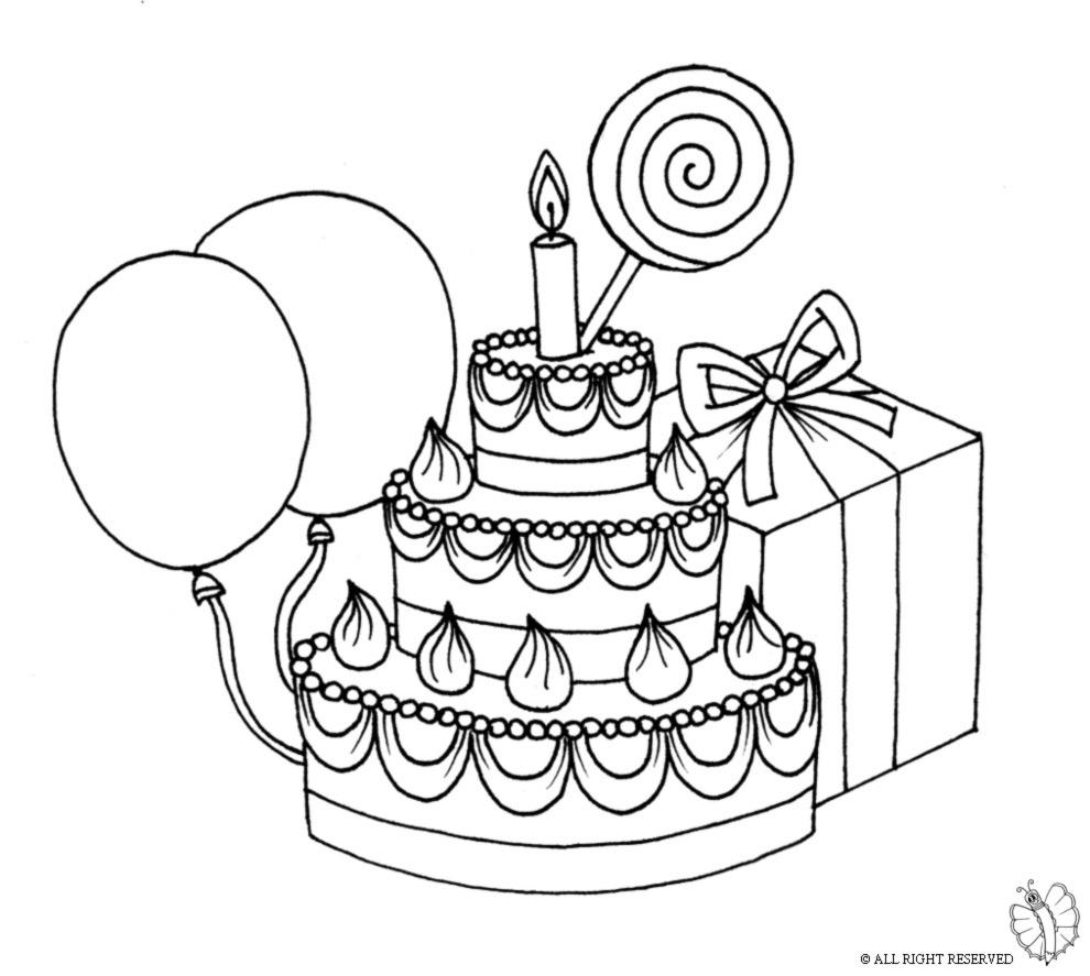 spesso Disegno di Torta Compleanno con Lecca Lecca da colorare per  XB41