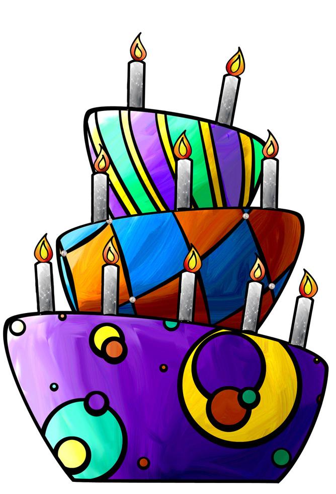 Super Disegno di Torta di Compleanno a colori per bambini  VS57