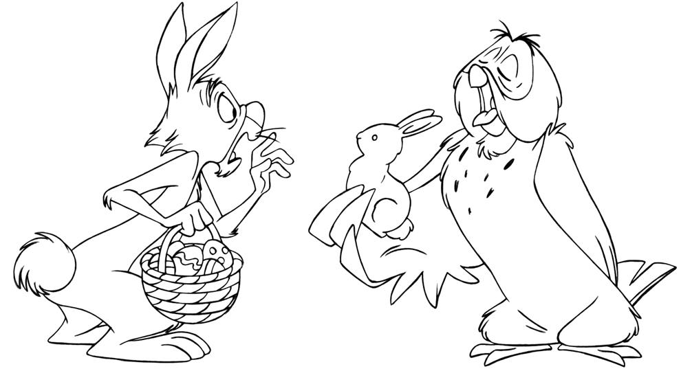 Disegno Di Uffa E Tappo Winnie The Pooh Da Colorare Per Bambini