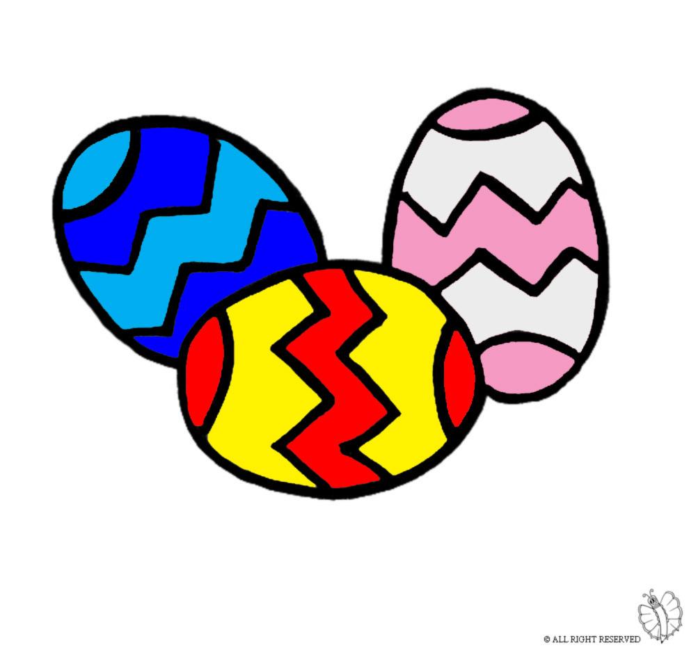 Conosciuto Disegno di Uova di Pasqua a colori per bambini  JT53